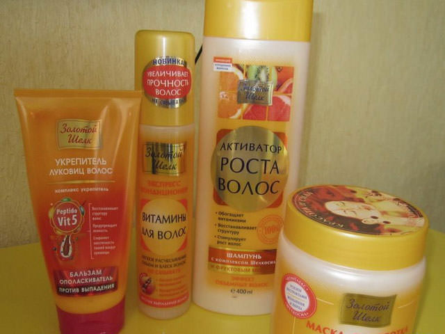 Активатор роста волос золотой шелк маска