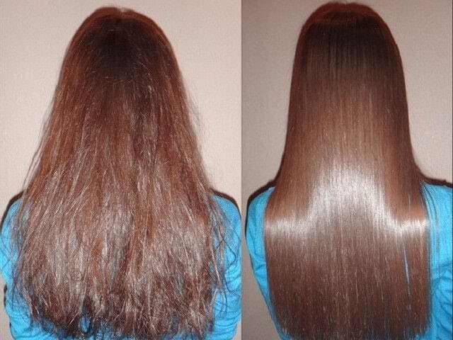 Волосы после кератинового выпрямления волос фото