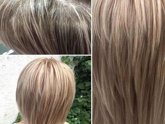 Эффект волос после тонирования