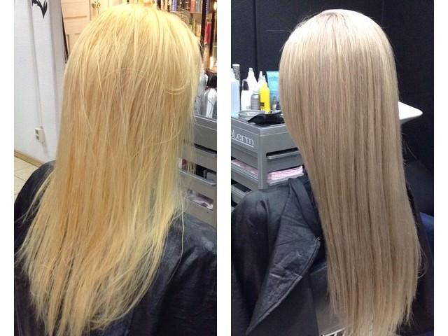 Тонирование блонд