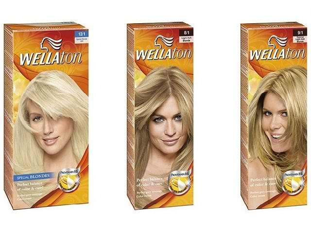 Краска для волос Wellaton палитра