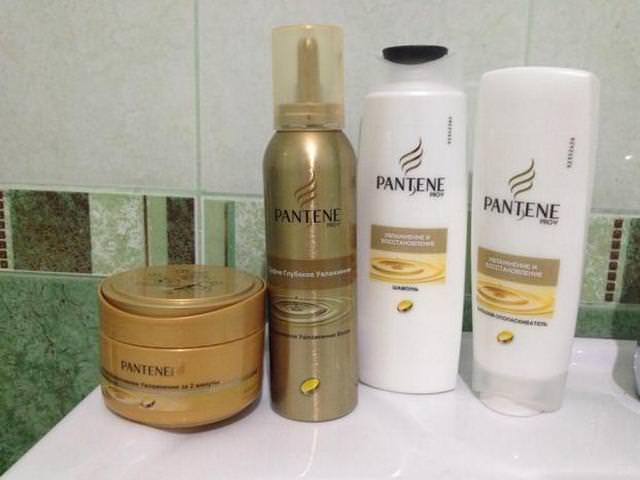 Сульфатный шампунь и другие средства для волос фирмы Pantene Pro-V