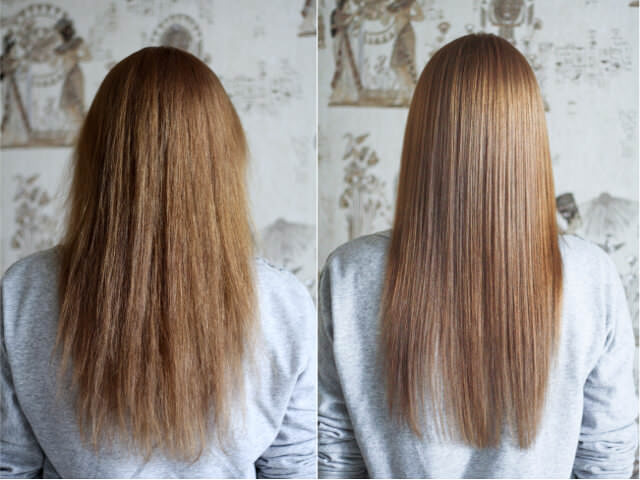Желатиновые маски для секущихся волос