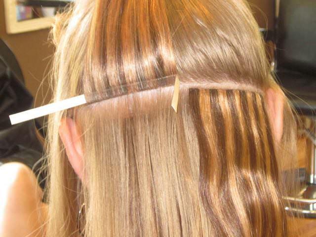 Итальянское наращивание волос светлого цвета
