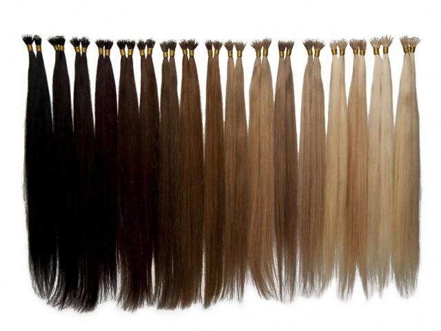 Пряди волос для наращивания разных цветов