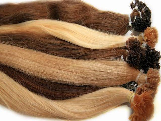 Пряди волос для капсульного наращивания