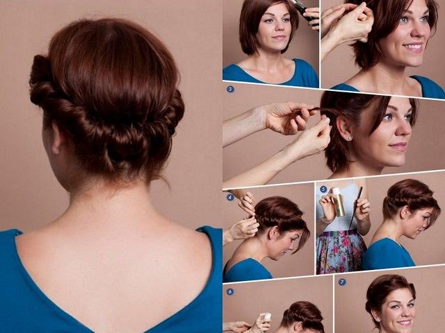 Этапы укладки для коротко постриженных волос