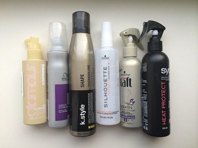 Различные средства для укладки вьющихся волос