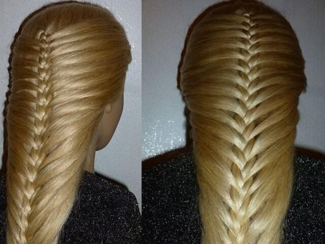 укладки с косами