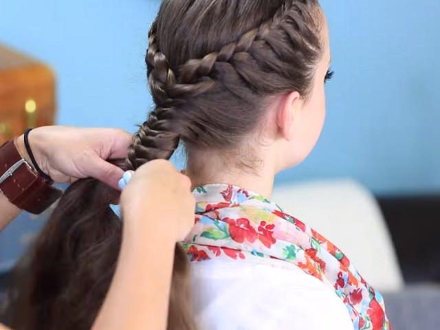 Плетение колоском прически для девочек 75