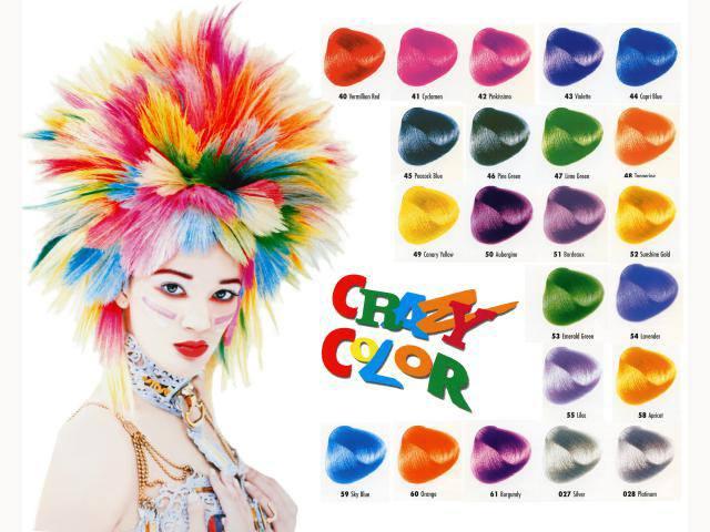 Стойкая краска для волос яркая