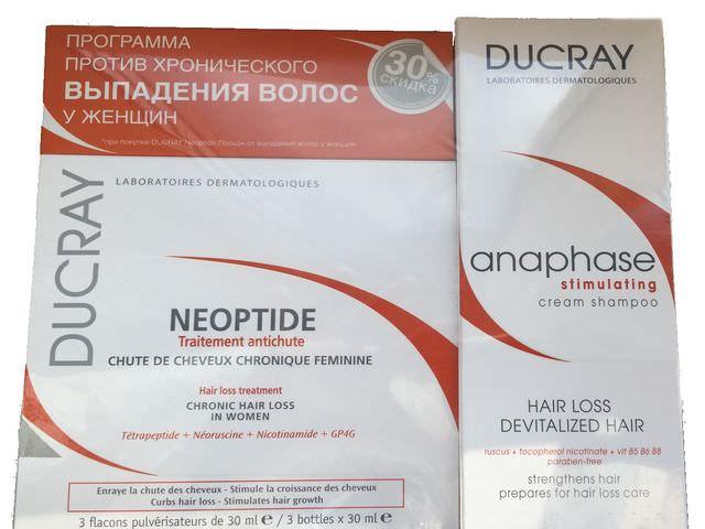 эффективное средство Ducray neoptide от выпадения волос у женщин