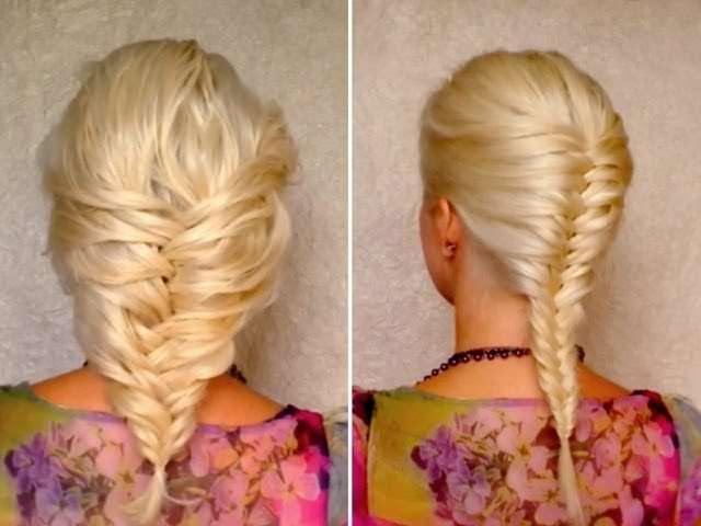Видео плетение объемных кос