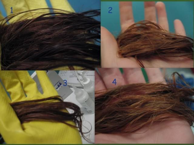 Смывка волос с помощью перекиси