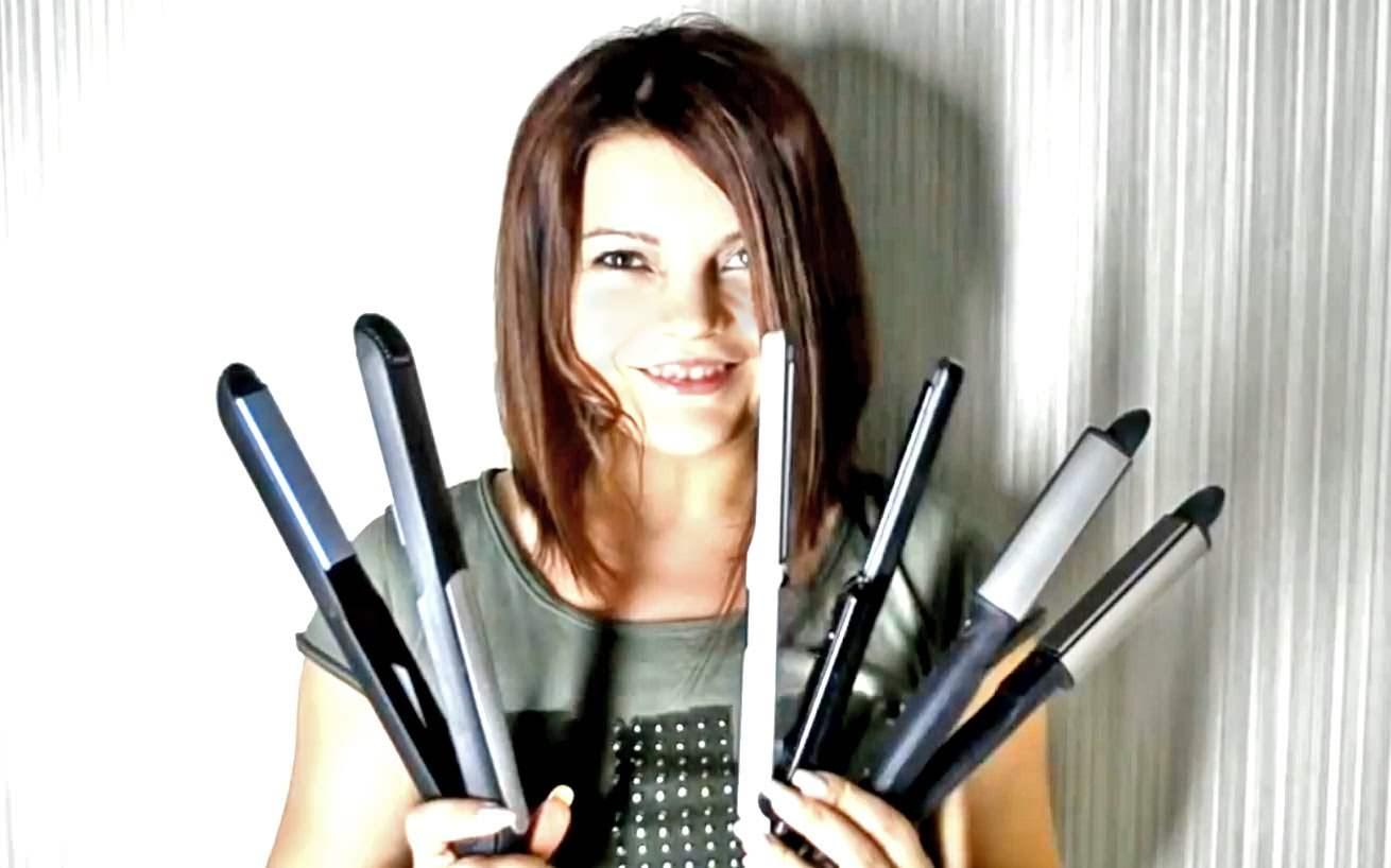 Как красиво завить волосы утюжком?