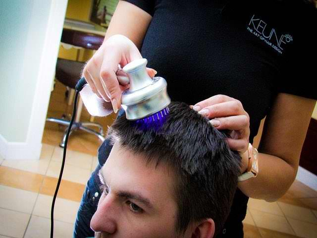 Процедура лазеротерапии волос