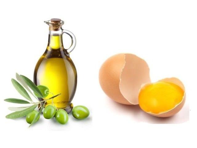 Масло оливковое и желток