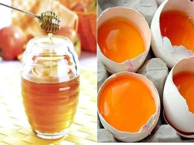 маска из смеси яиц и мёда
