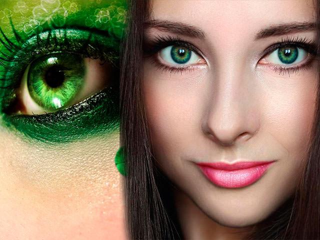 как подобрать цвет волос к зеленым глазам