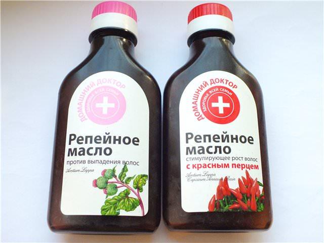 Репейное масло - народное средство от перхоти