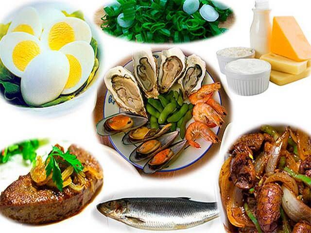 Продукты, содержащие витамин группы В12
