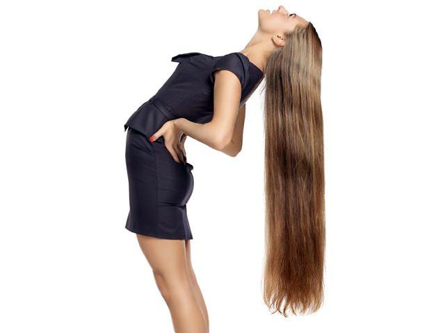 Демонстрация длинных волос