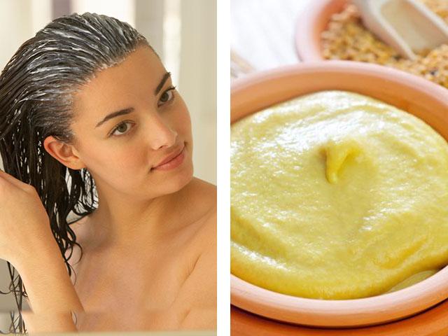 Увлажняющая горчица: горчичная маска для сухих волос против выпадения и для роста.